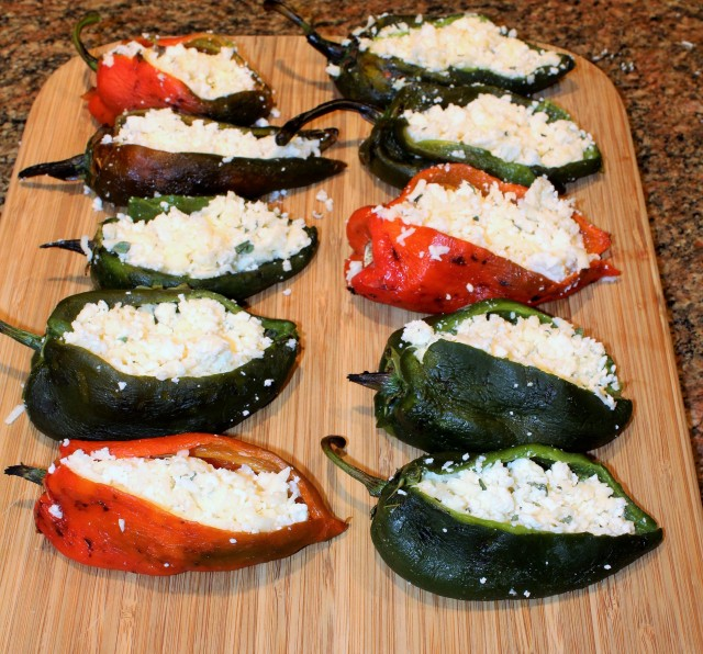 Stuff peppers with cheese