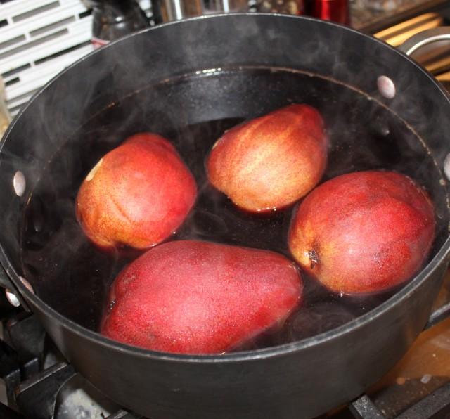 Poach pears