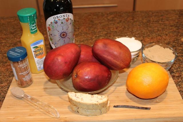Poached pears ingredients