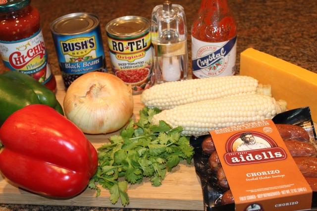 Kel's Chorizo cheese and corn filling ingredients