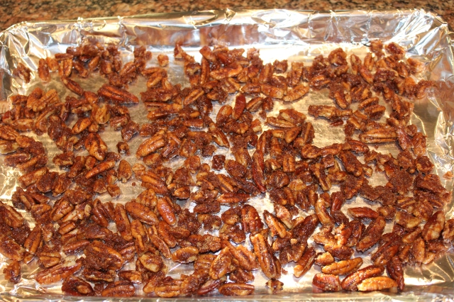 place-pecans-on-baking-sheet