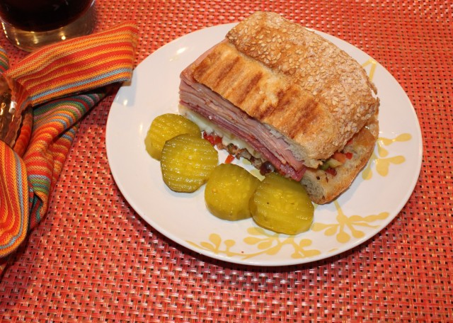 Kel's Muffuletta, Grilled on Day 2
