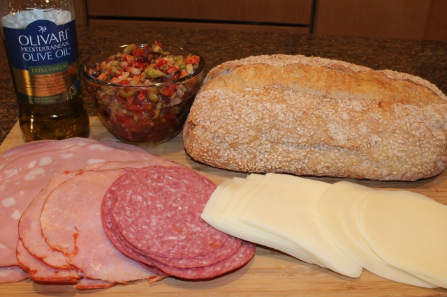 Kel's Overstuffed Muffuletta ingredients