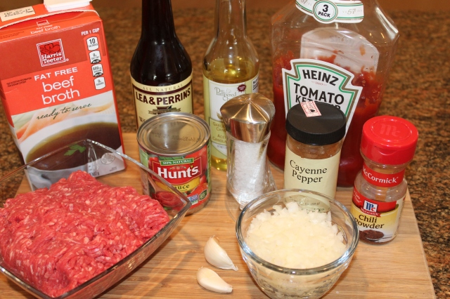 Kel's homemade chili sauce ingredients