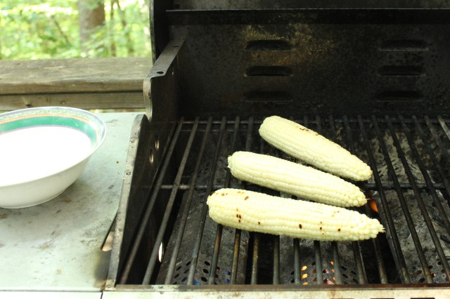 Grill corn over medium heat