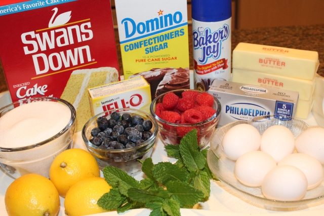 Kel's Luscious Lemon Pound Cake Ingredients