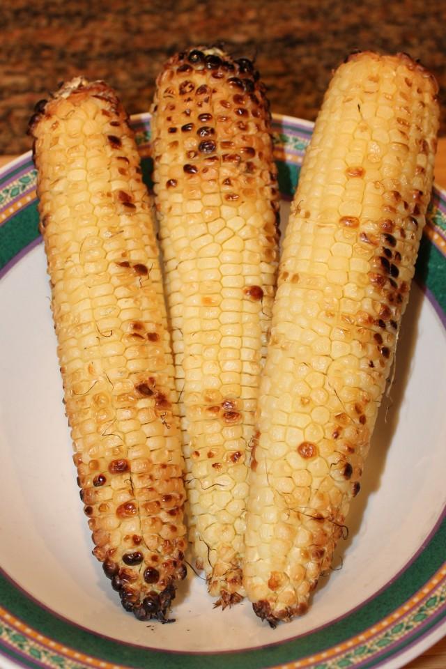 Let corn cool
