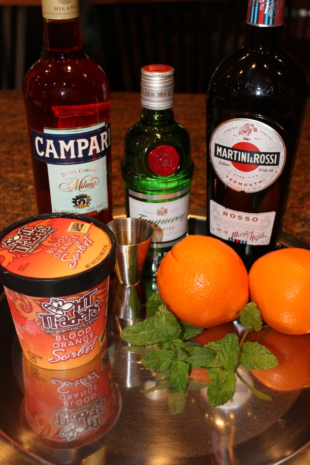 Kel's frozen Negroni ingredients