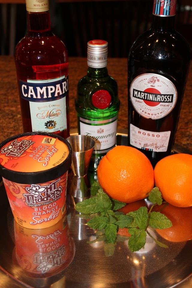Kel's frozen Negroni ingredients