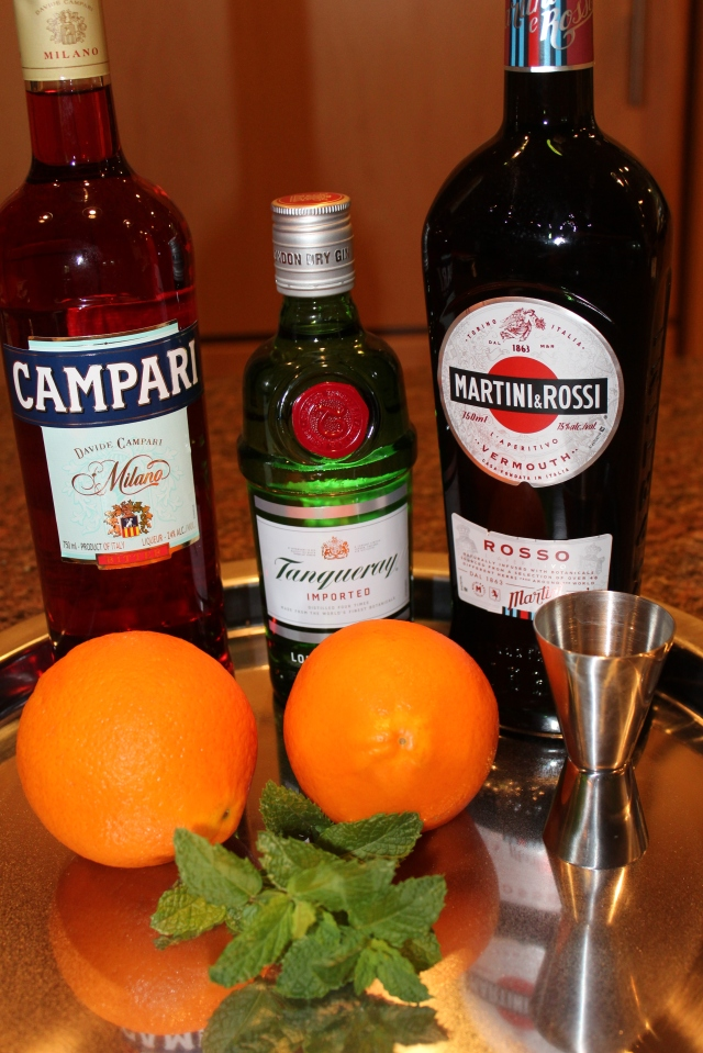 Kel's traditional Negroni ingredients