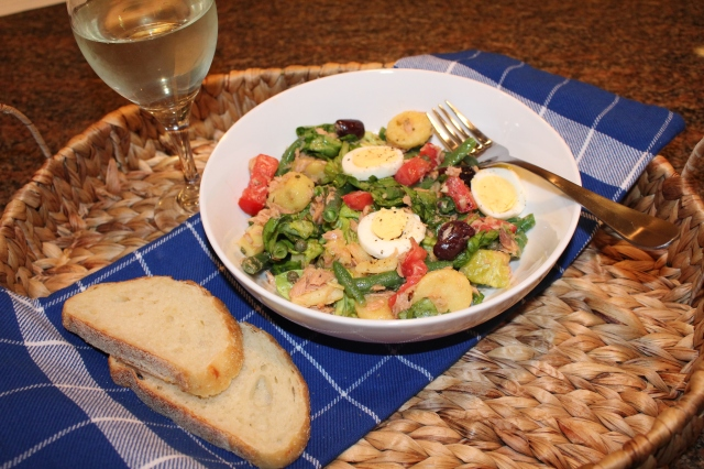 Let's eat Kel's Nicoise salad