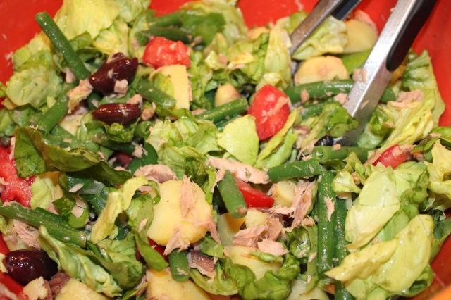 Toss Kel's Nicoise salad
