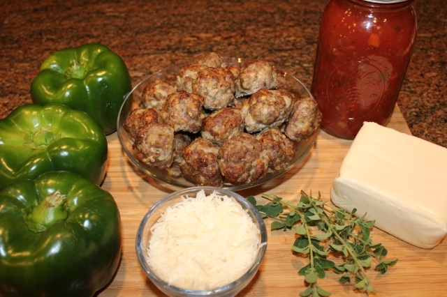 Kel's Meatball Sub Stuffed Peppers ingredients