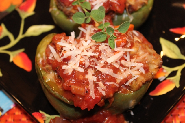 Kel's Meatball Sub Stuffed Peppers