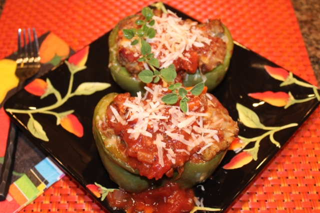Let's eat Kel's Meatball Sub Stuffed Peppers