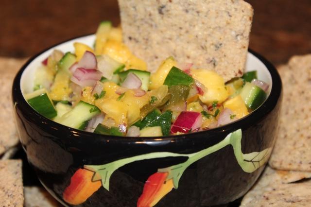 Kel's pineapple cucumber jalapeno salsa