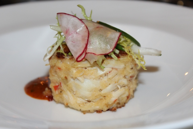 Incredible crabcake at the State View