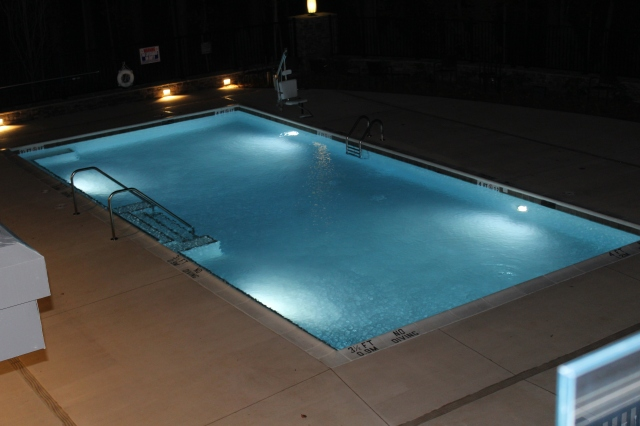 State View pool at night