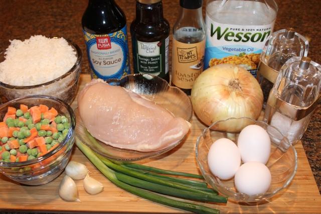 Kel's chicken fried rice ingredients
