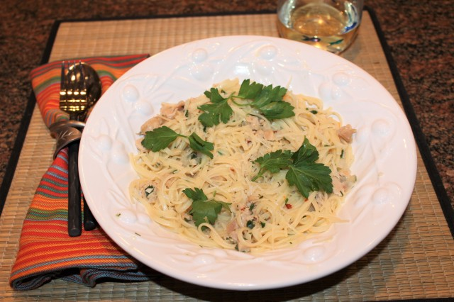 Let's eat Kel's linguine with white clam sauce