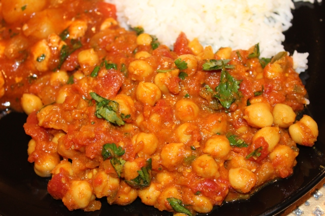 Kel's chana masala up close