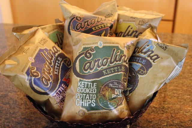 Basket full of Carolina Kettle Chips