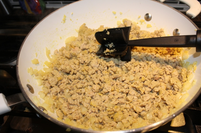 Brown ground turkey