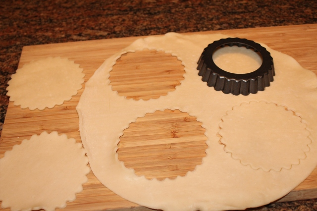Cut pastry for lattice topping