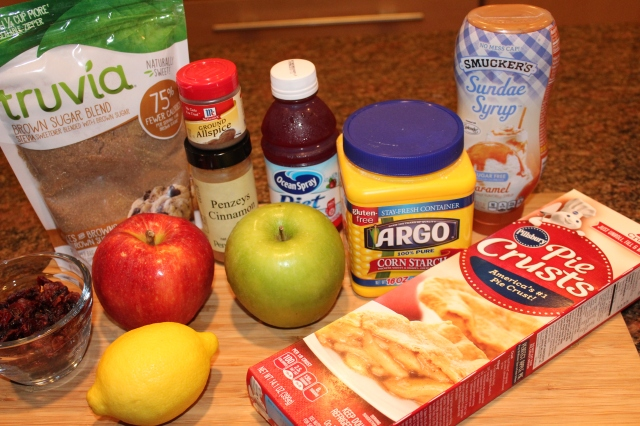 Kel's apple cranberry pie in an apple ingredients