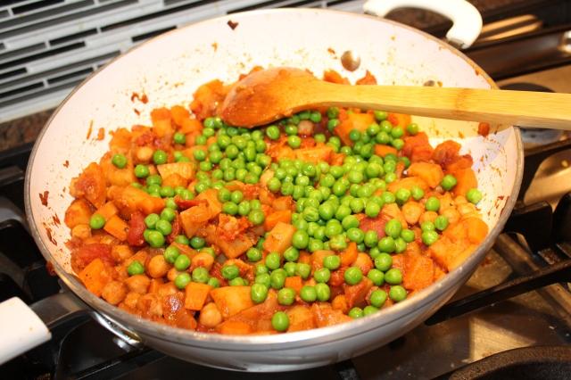 Add green peas