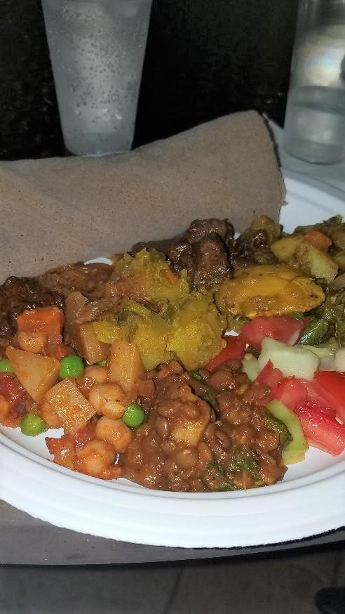 Serve with other Ethiopian foods
