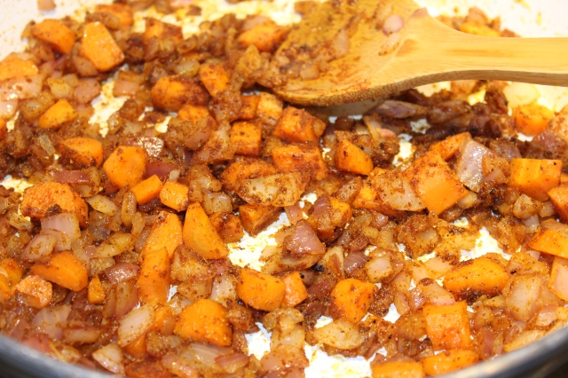 Stir in spices