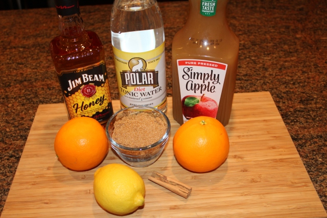 Kel's Cafe honey bourbon apple cider punch ingredients