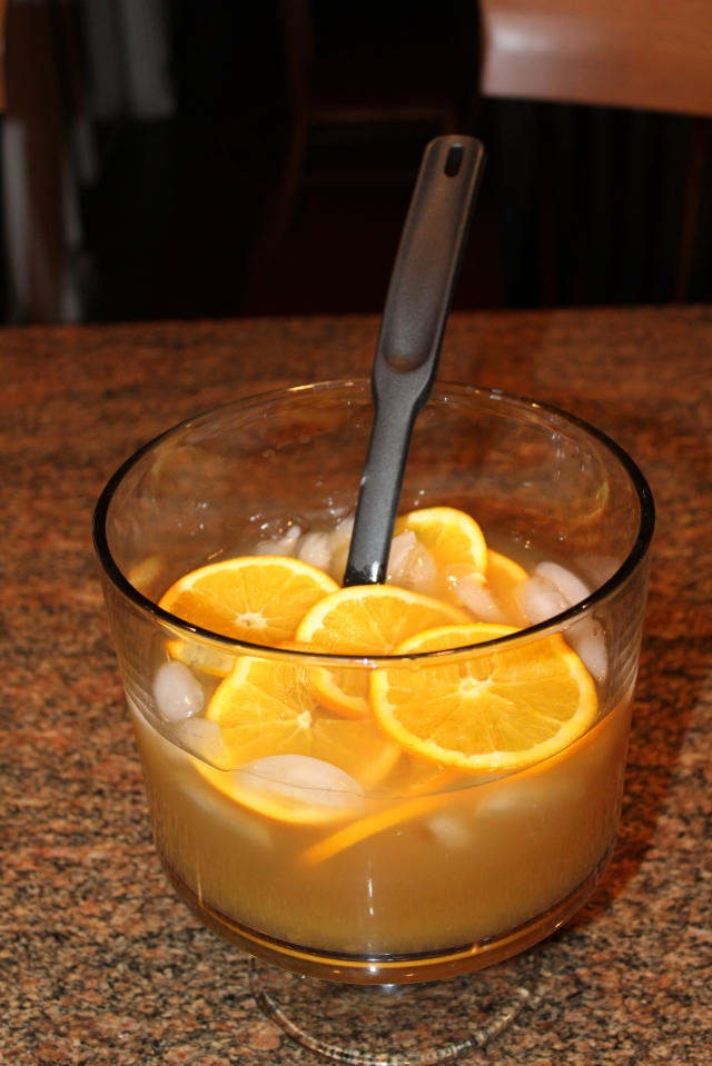 Kel's Cafe honey bourbon apple cider punch