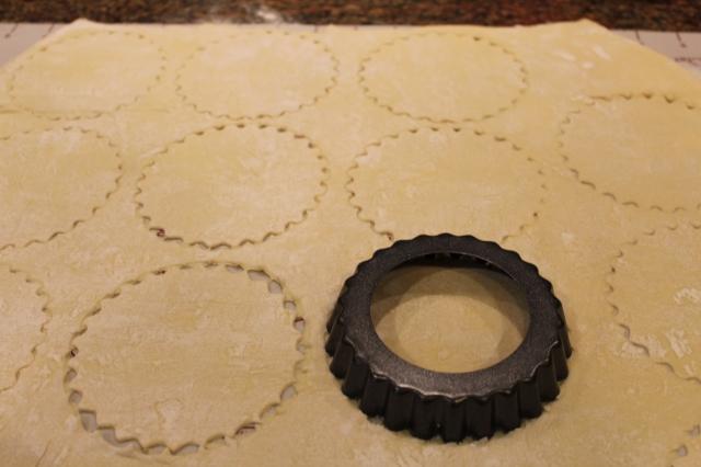 Cut pastry for empanadas