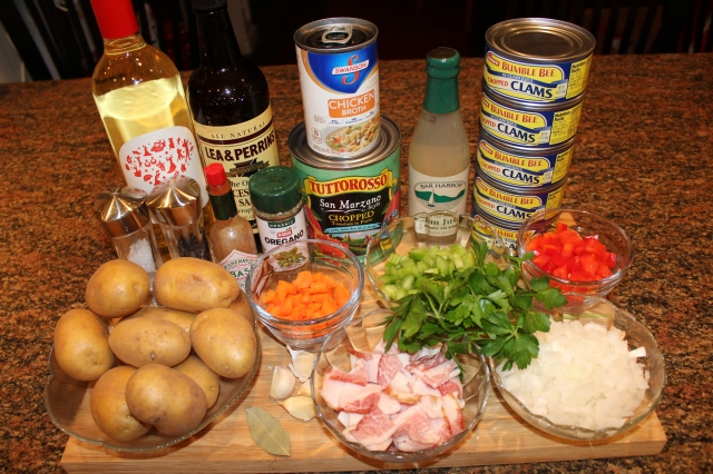 Kel's Manhattan clam chowder ingredients