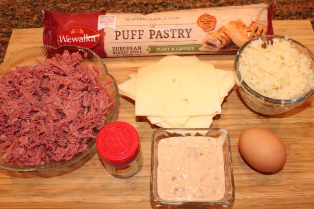 Kel's Cafe Puff Pastry Reuben ingredients