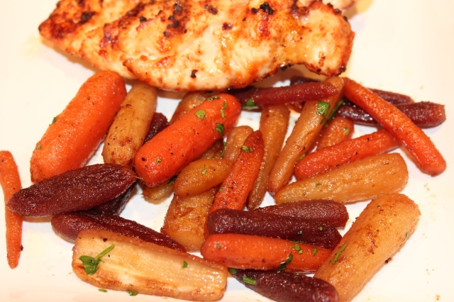 Let's eat Kel's roasted rainbow carrots