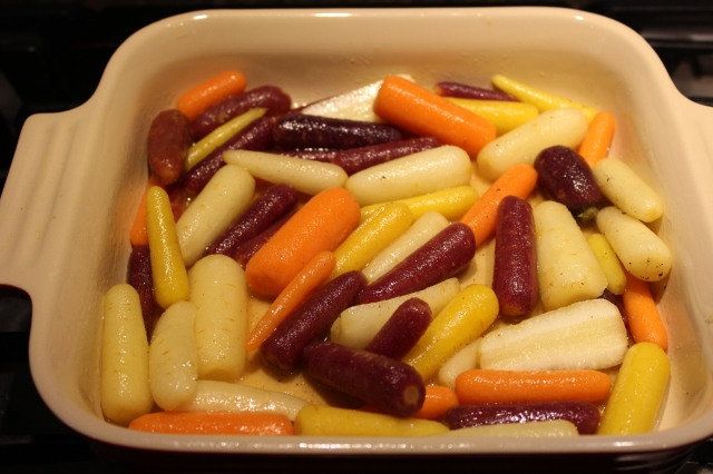 Place carrots in baking dish