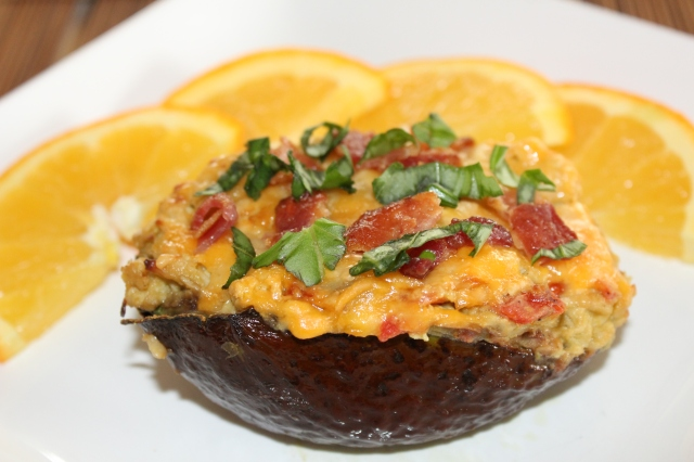Kel's Cafe chicken stuffed avocado
