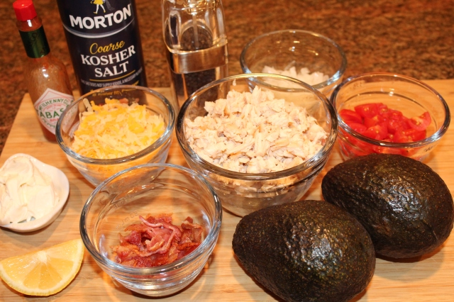 Kel's chicken stuffed avocados ingredients