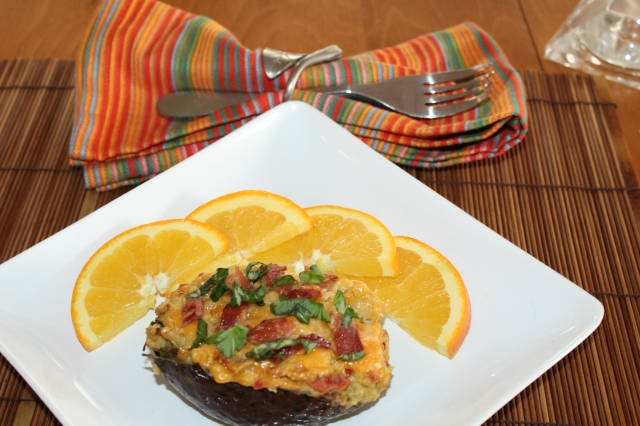 Serve Kel's chicken avocados with fruit