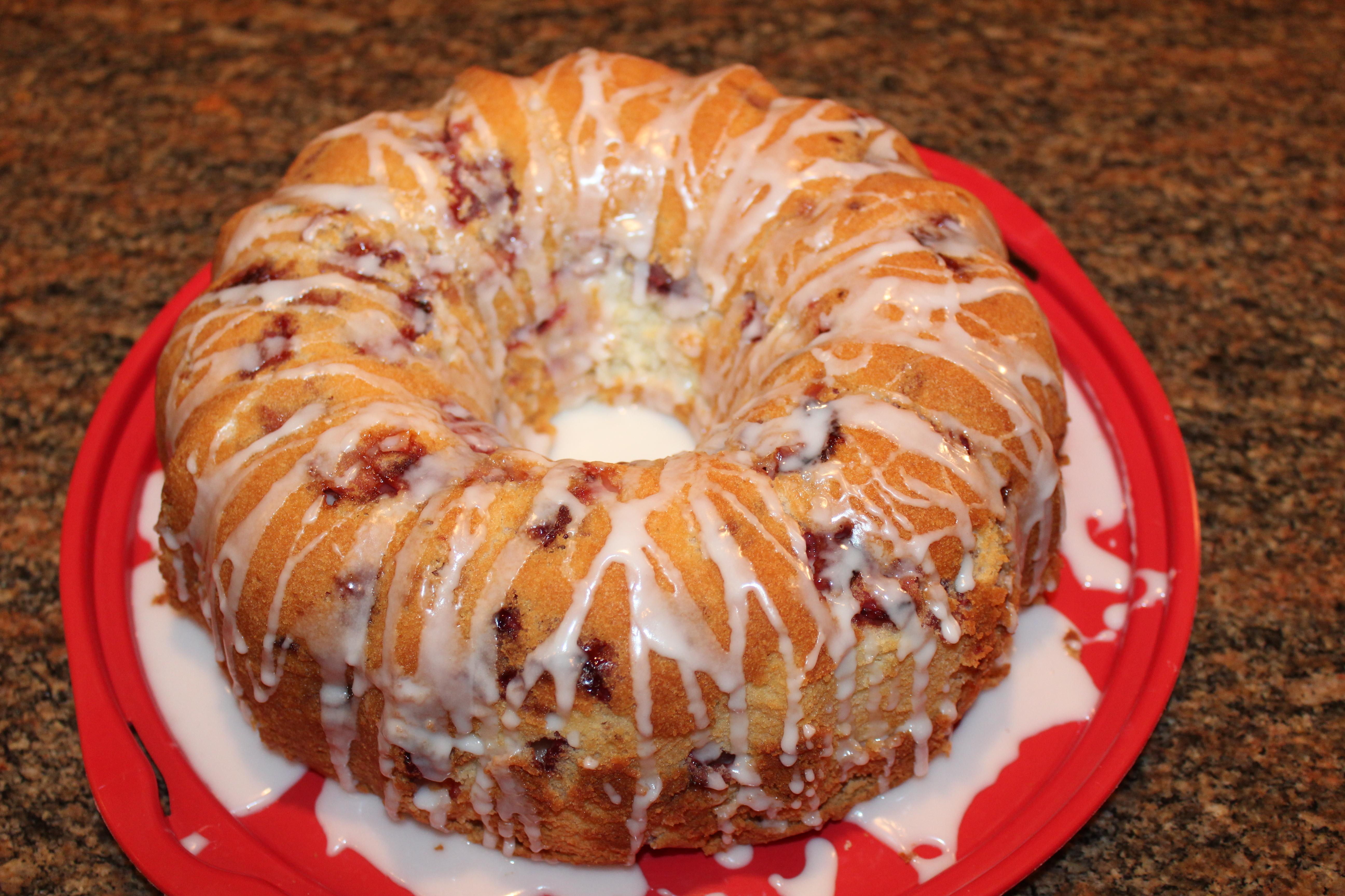 Kel's Straberry lemon bundt cake