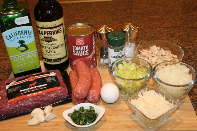 Elk and turkey sausage mealoaf ingredients