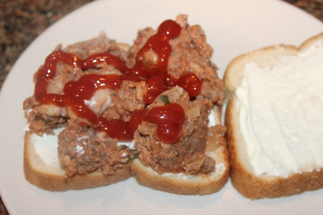 Elk and Turkey Sausage Meatloaf Sandwich