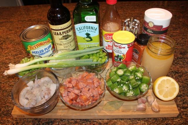 Kel's Cafe Shrimp Creole Ingredients