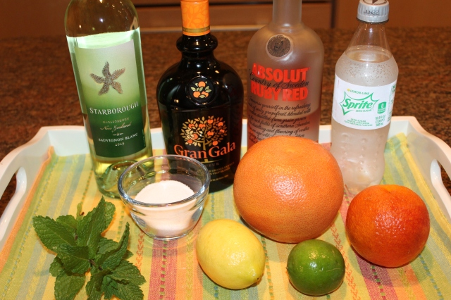 Kel's Citrusy Sangria ingredients