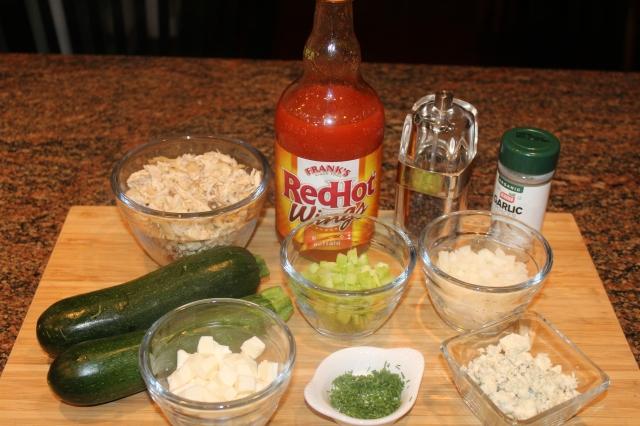 Kel's Buffalo Chicken Zucchini Boats ingredients
